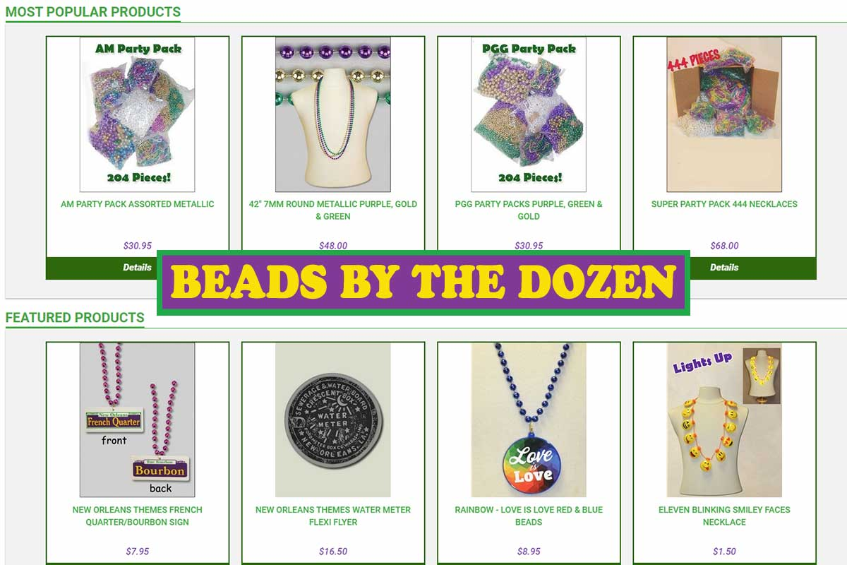 Beads by the Dozen - New Orleans Local