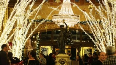 Photo of Roosevelt Hotel Lobby Now A Dazzling Winter Wonderland