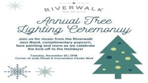 Riverwalk Tree Lighting Ceremnoy