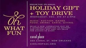 Sideline pass Toy Drive - New Orleans Local