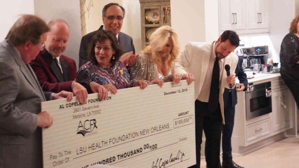 Al Copeland Foundation - 100,000 donation check