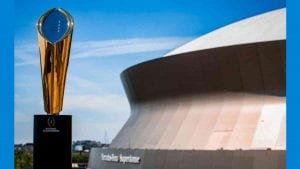 The CFP National Championship Trophy comes to THNOC