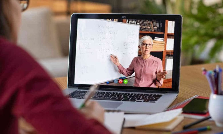 Distance learning or virtual learning teacher on screen | New Orleans Local
