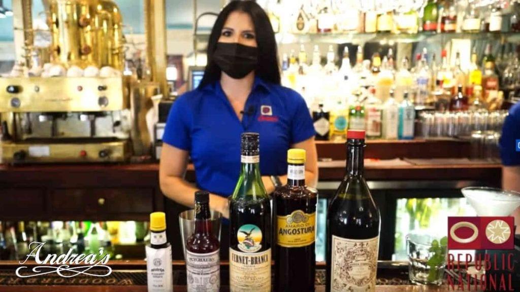 Andrea's Restaurant Drink Specials - Megan, Stan Harris