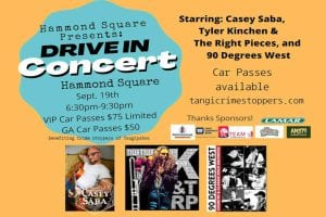 Crime Stoppers Drive In Concert