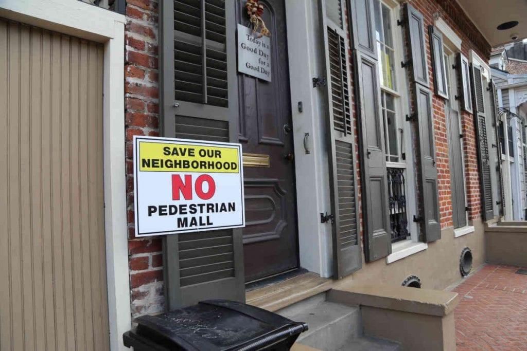 Pedestrian Friendly Quarter No Mall signs