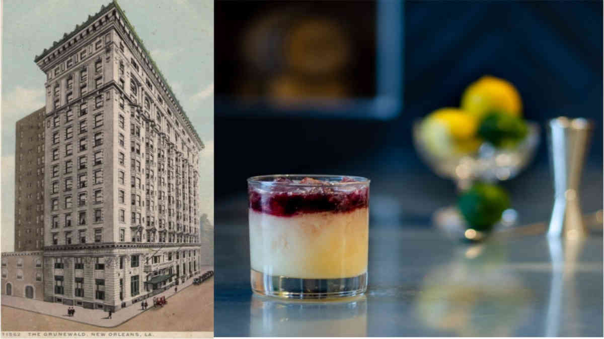 Cocktails of New Orleans' Grand Hotels