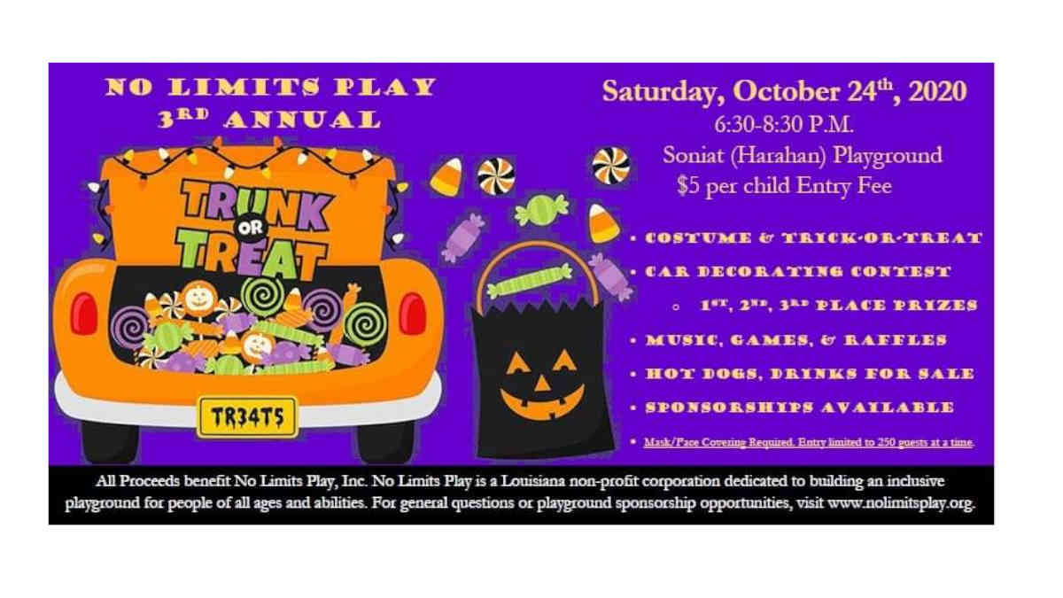 No Limits Play 3rd Annual Trunk or Treat
