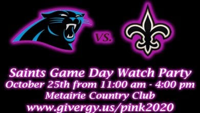 Photo of Saints Game Watch Party benefiting Real Men Wear Pink