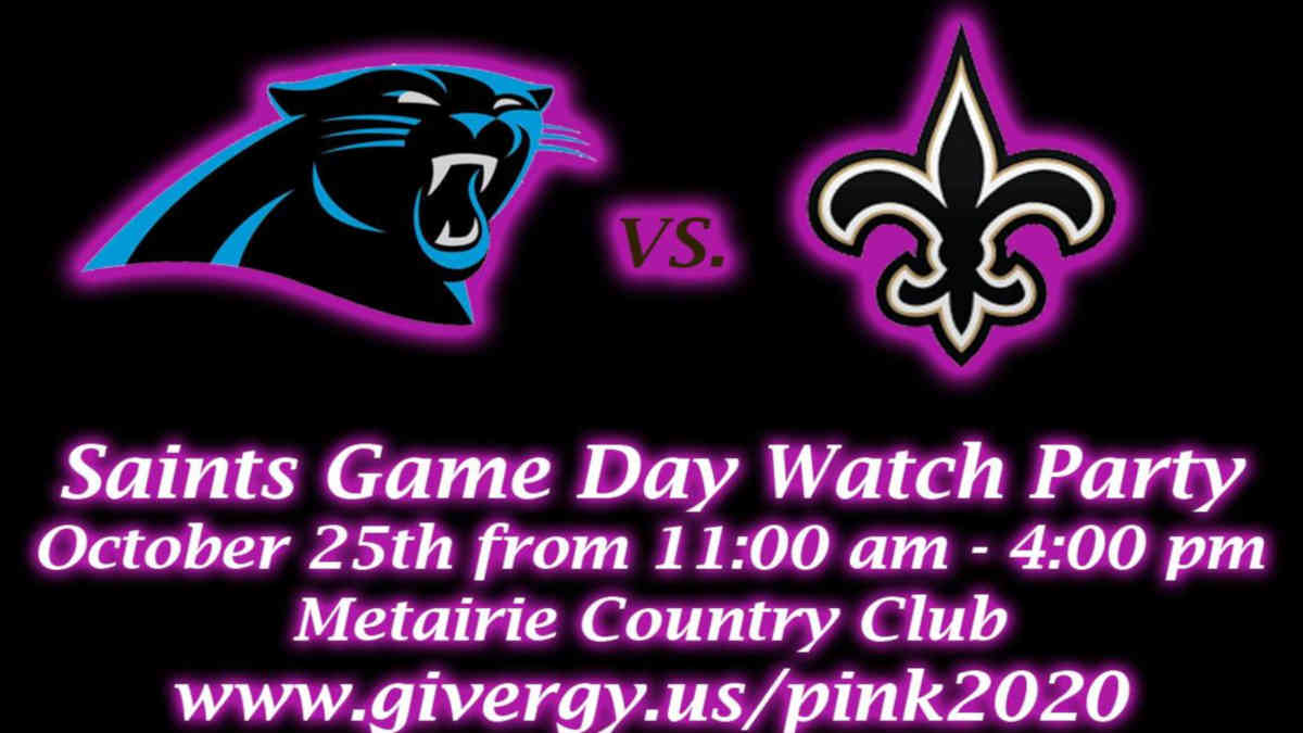 Real Men Wear Pink Saints Watch Party