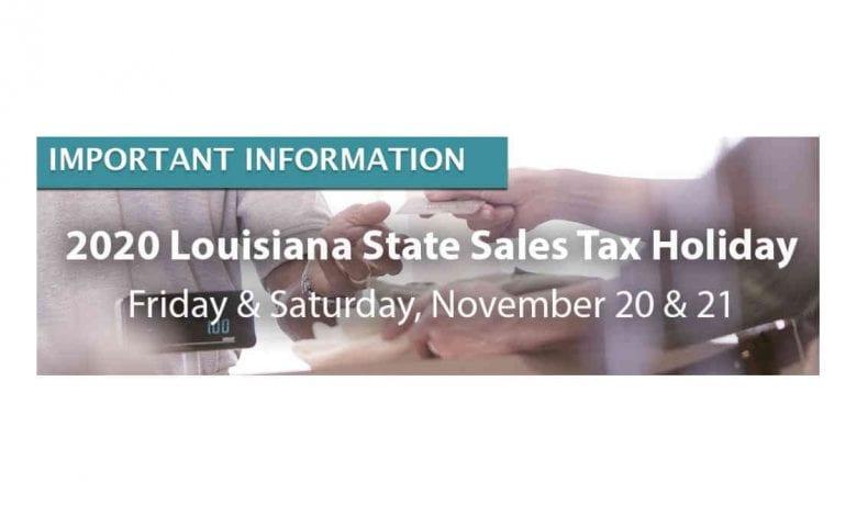 2020 Louisiana Sales Tax Holiday
