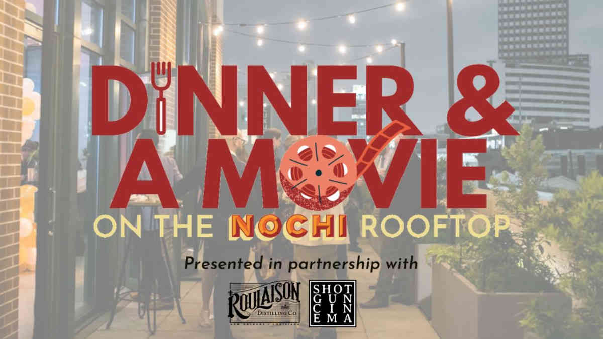 Dinner and a movie on the nochi rooftop