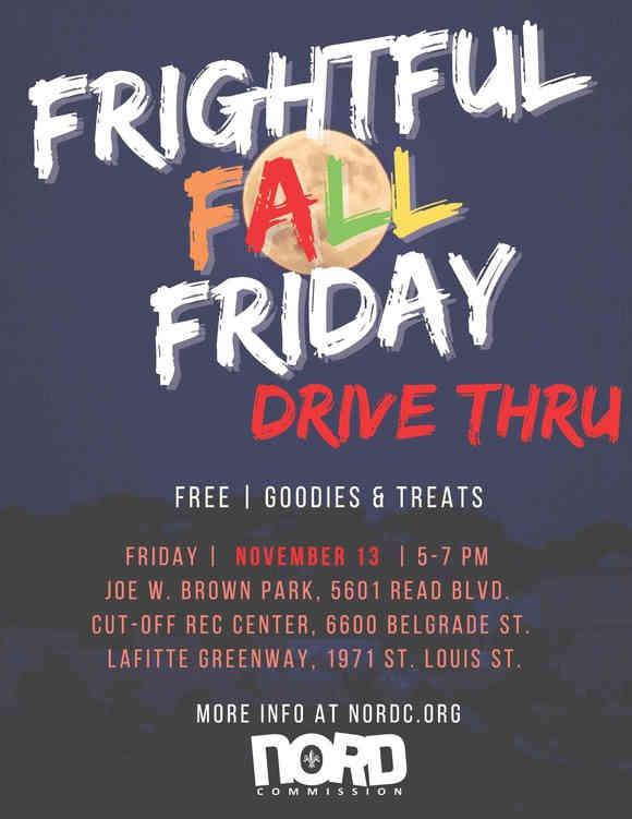 Frightful Fall Friday Drive Thru Flyer
