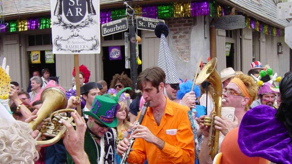 Mardi Gras 2021 - Crowd At Bourbon Street