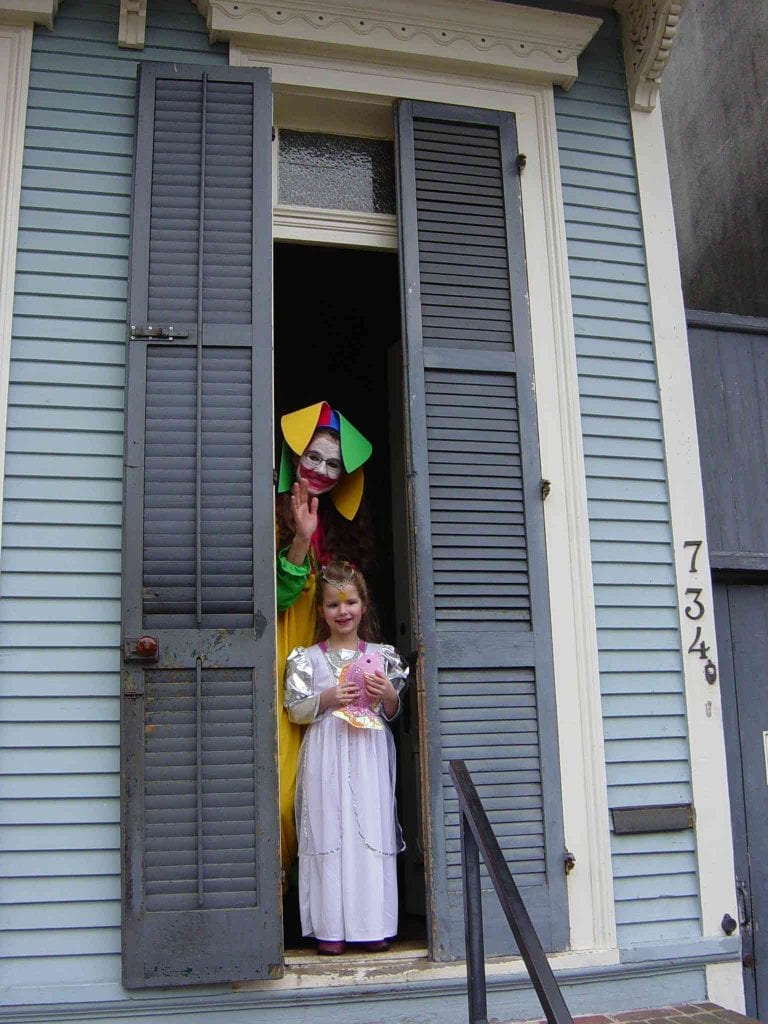 Mardi Gras 2021 With Girl In Costume French Quarter