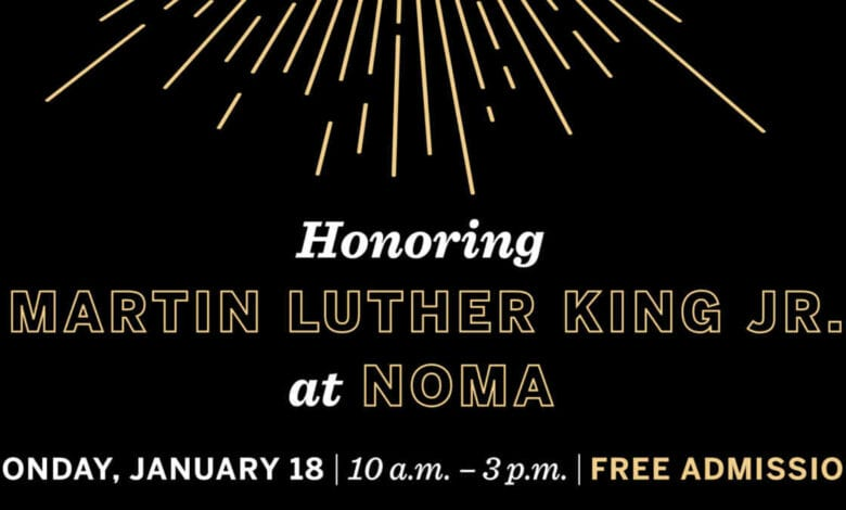 honoring marting luther king jr at NOMA