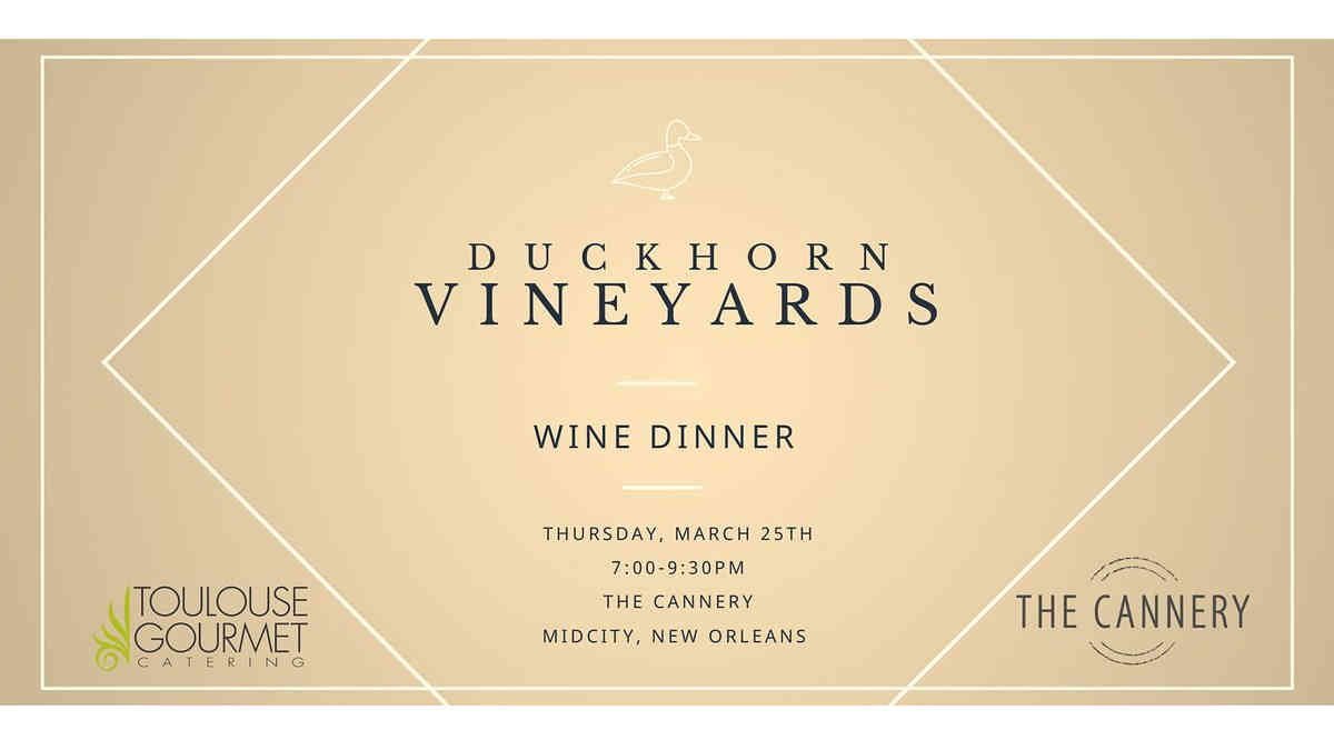 Duckhorn Vineyards wine pairing