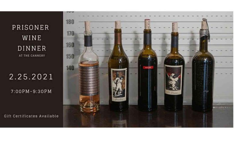 Prisoner Wine Co. Dinner