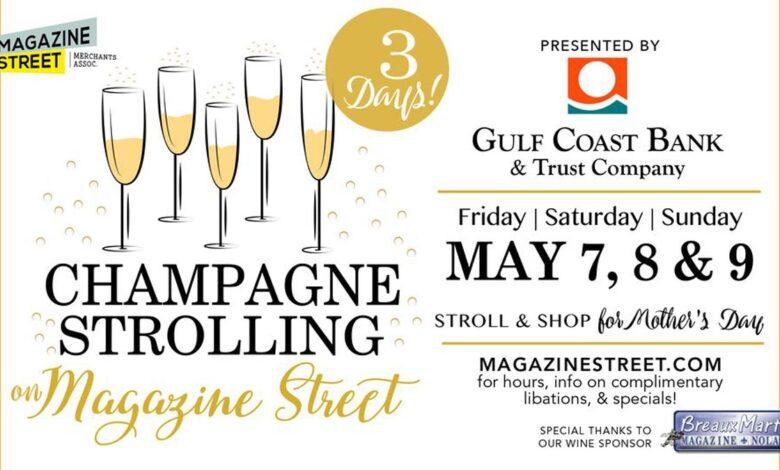 Champagne Strolling on Magazine Street