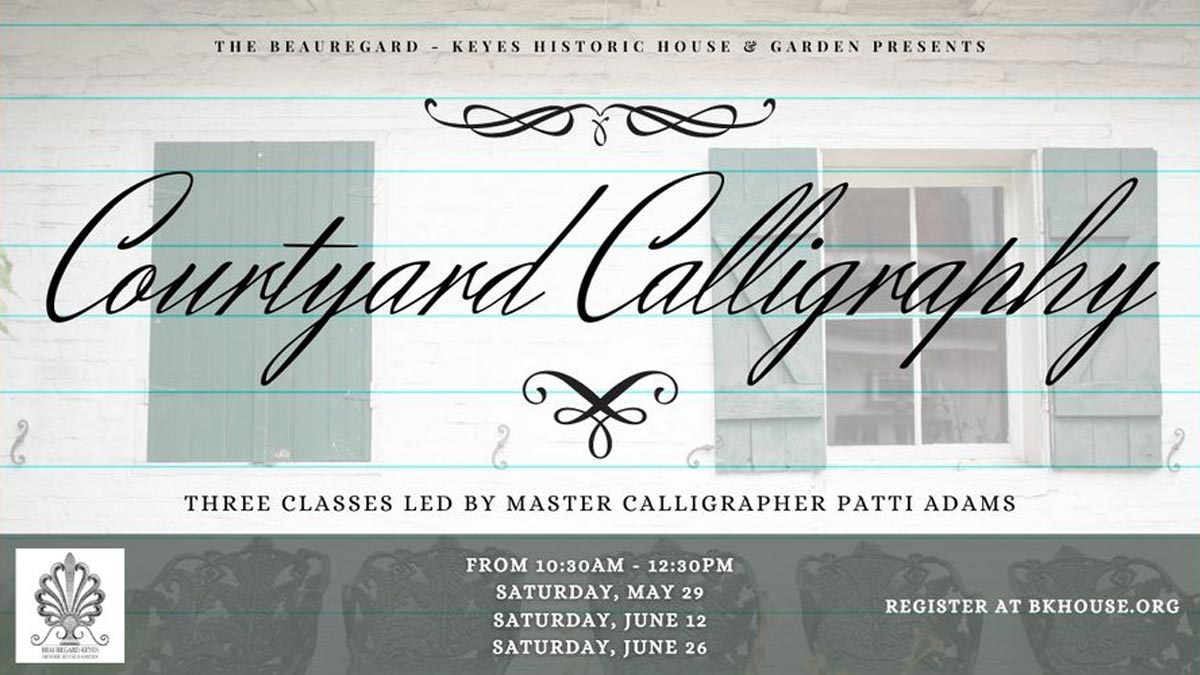 Courtyard Calligraphy with Artist Patti Adams