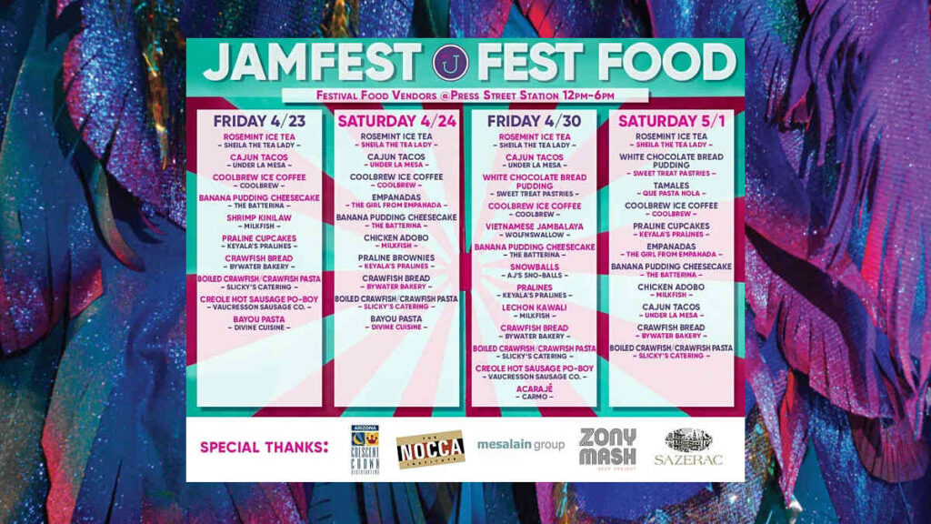 JAMFEST schedule