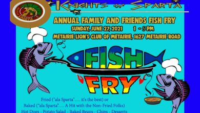 THE KNIGHTS OF SPARTA ANNUAL FAMILY & FRIENDS FISH FRY