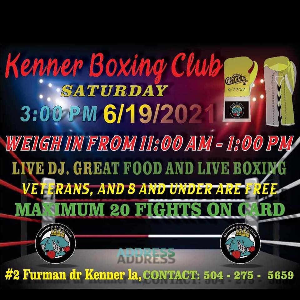 June Madness at Kenner Boxing Club