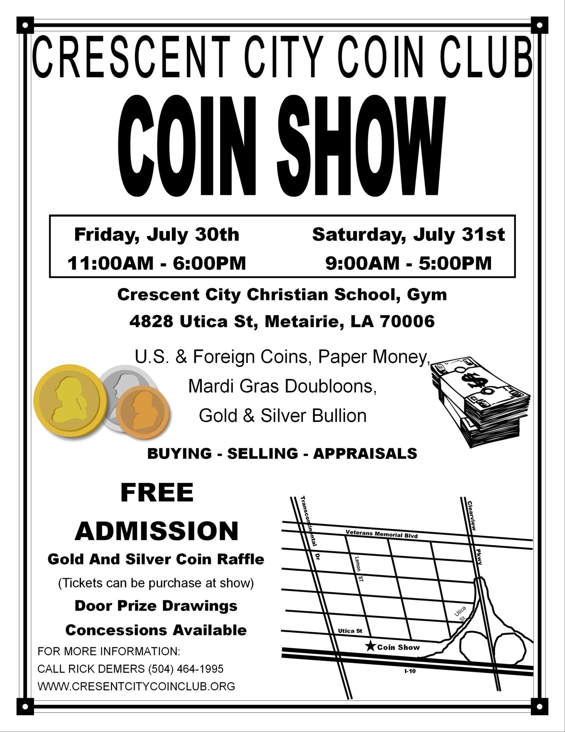 Crescent City Coin Club - Coin Show