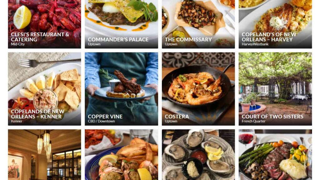 Restaurant Week New Orleans 2021